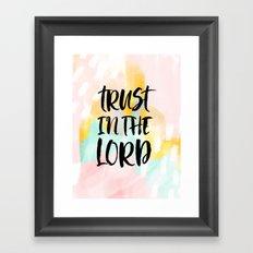 Trust the Lord - Christian Faith typography - Abstract Framed Art Print