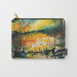 Harbor in sunset Carry-All Pouch