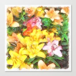 Lilies Love and Light Canvas Print