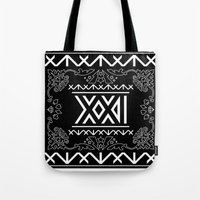 2ne1 Tote Bags featuring 2NE1 - Roman Numeral Motif by Betwixt