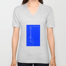 Solid Body Electric Guitar Blueprint Unisex V-Neck