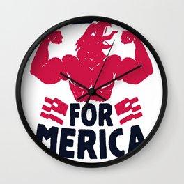 REPS FOR 'MERICA T-SHIRT Wall Clock