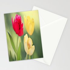 Red & Yellow Tulips Stationery Cards