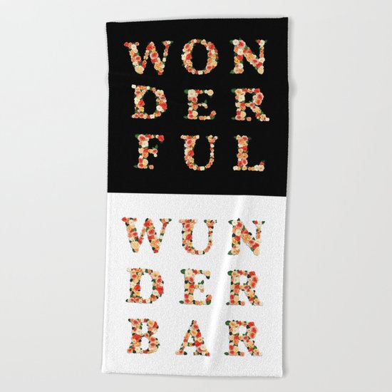 wonderful - wunderbar - west - Living Hell Beach Towel