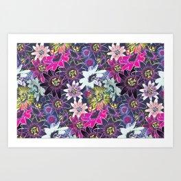 Passion Flower Bright Art Print