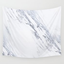White Marble with Classic Black Veins Wall Tapestry