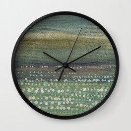 Landscape Dots- Blue Wall Clock