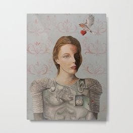 woman with Roman armor, timeless Metal Print