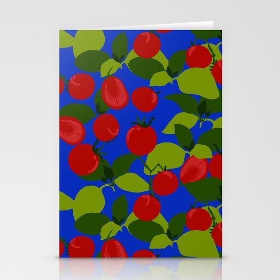Tomato Basil Pattern Stationery Cards