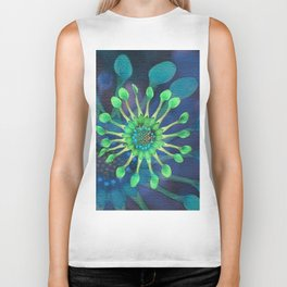 Passion Flower Watercolor Biker Tank