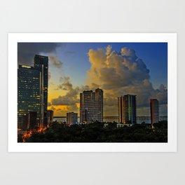 Good Moring Miami Art Print