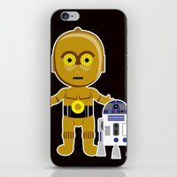 c3po iPhone & iPod Skins featuring C3PO by Jasmine Victoria