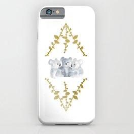 Koalas in Gold iPhone Case