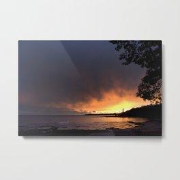 jjhelene Sunset at Lake Erie, Fort Erie, Ontario Canada Metal Print