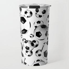 3D look soccer balls pattern Travel Mug