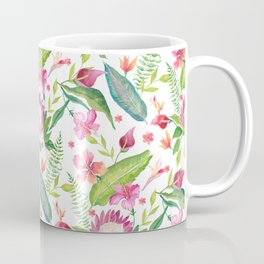 Tropical Paradise floral watercolor, tropical flowers, exotic, Caribbean style Coffee Mug