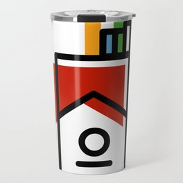 cigarette pack minimal Travel Mug