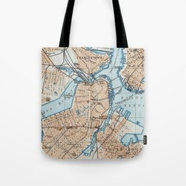 Vintage Map of Boston MA (1906) Tote Bag