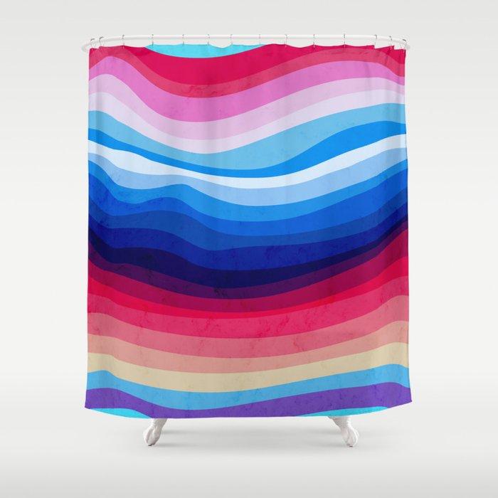 Melted Rainbow Shower Curtain
