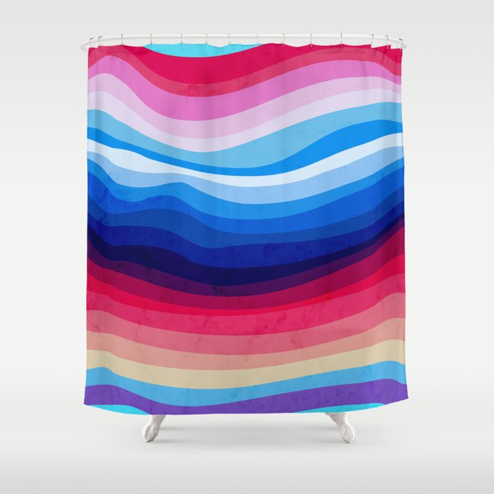 Melted Rainbow Shower Curtain