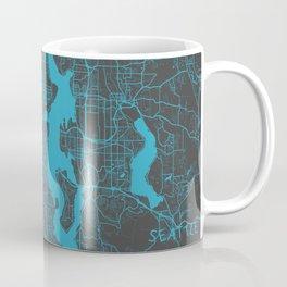 Seattle map blue Coffee Mug
