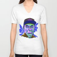 tyler spangler V-neck T-shirts featuring TYLER 124 by Brainjuice