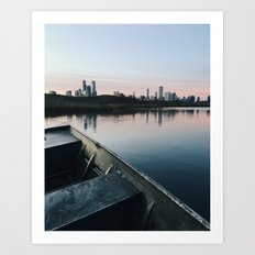 Dusk at Chicago's Northerly Island Art Print