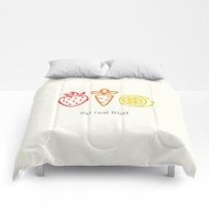 Eat Real Food. (light) Comforters