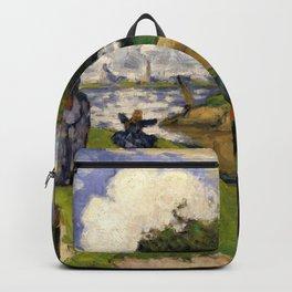 "Paul Cezanne ""The Fishermen (Fantastic Scene)"" Backpack"