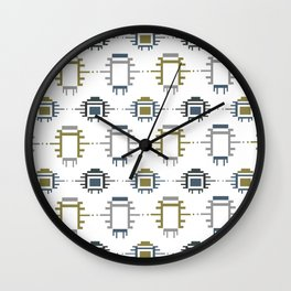 African Cloth Wall Clock