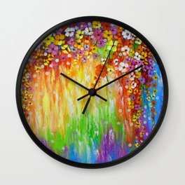 Melody of colors Wall Clock