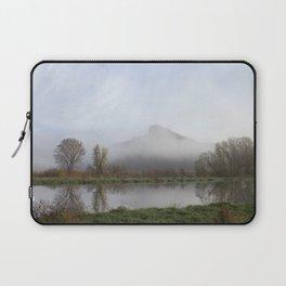 Foggy Morning Bluff Laptop Sleeve