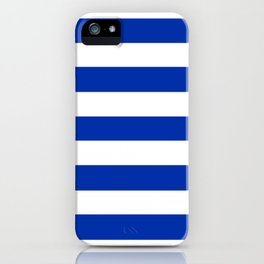 International Klein Blue - solid color - white stripes pattern iPhone Case