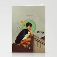 grey Stationery Cards featuring Grey by Frank Moth