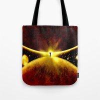 atlas Tote Bags featuring ATLAS - 225 by Lazy Bones Studios