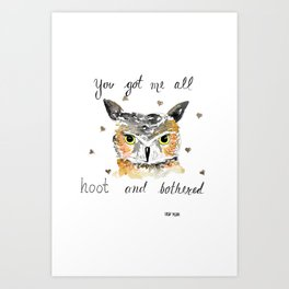 Hoot and bothered Art Print