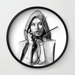 Monica Bellucci - Little Red Riding Hood Wall Clock