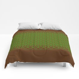 grenn pattern Comforters