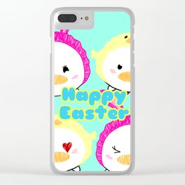 Easter Ducks Clear iPhone Case