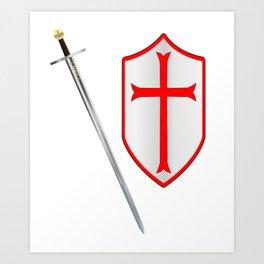 Crusaders Sword and Shield Art Print