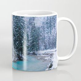 Magical river in enchanted winter forest Coffee Mug