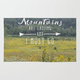 Mountains are Calling - The Smokys Rug