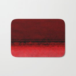 Deep Ruby Red Ombre with Geometrical Patterns Badematte