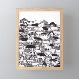 houses Framed Mini Art Print