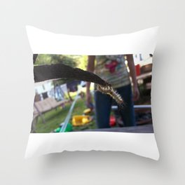 Just keep hanging on Throw Pillow
