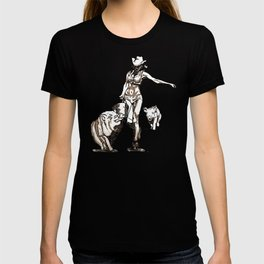 The cowgirl and the pigs T-shirt