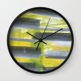 Green Gray Abstract Wall Clock