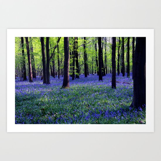 drowning in the bluebell sea Art Print