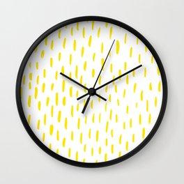 Yellow Lines Wall Clock