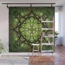 four leaf clover in a diamond Wall Mural